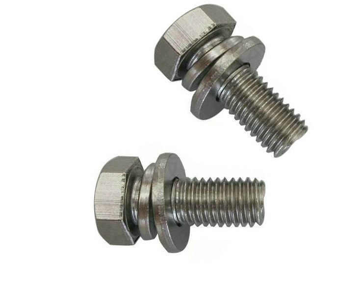 304 stainless steel hexagonal head combination screws/gb9074.17 outer hexagonal three combination <strong>bolts</strong> M5*12 <strong>M10</strong>*40