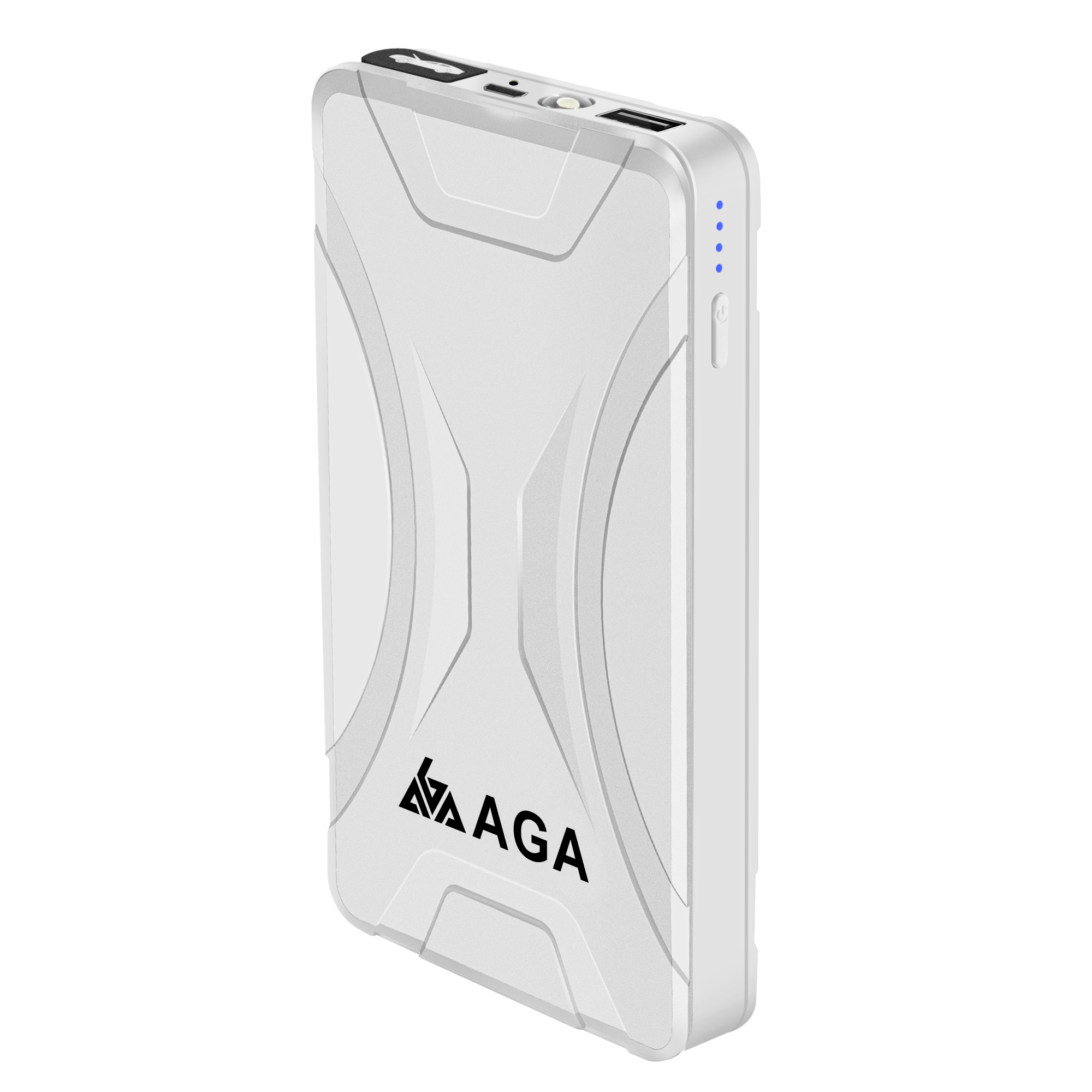 AGA newly launched A15 portable mini Lithium-ion polymer battery Jump Starter Power Pack automotive battery power station