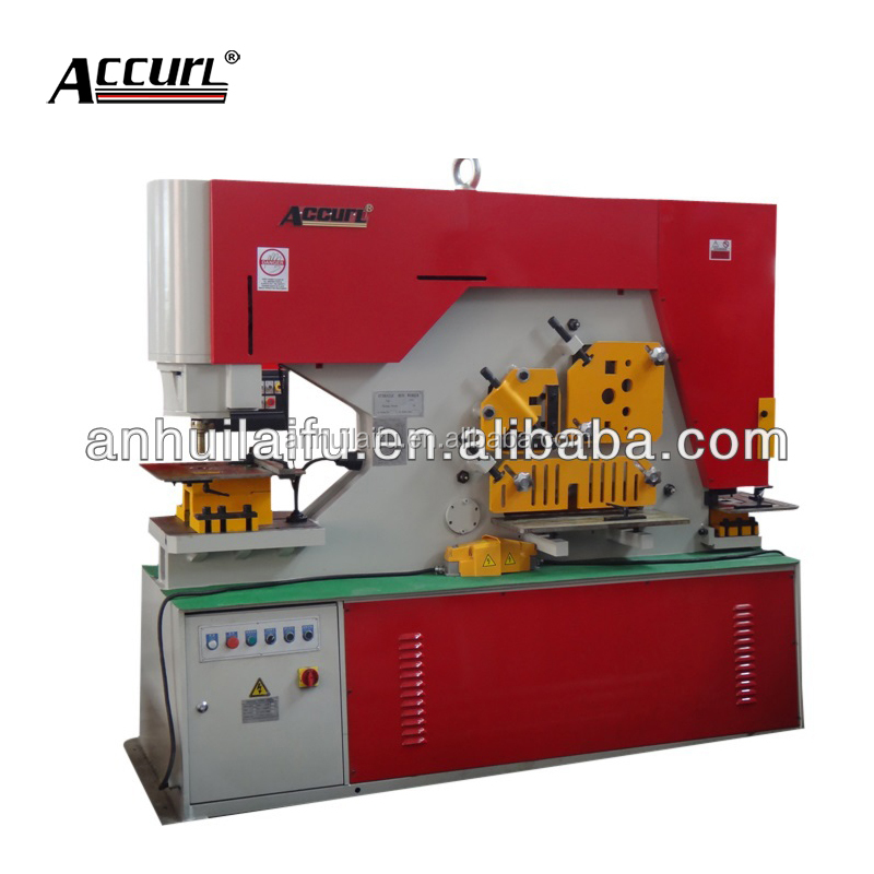 Sheet metal cutting and bending machine of Q35y 85tons hydraulic ironworker