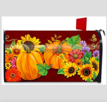 Custom fall glory floral art deco magnetic cast iron modern usa mailbox cover wrap