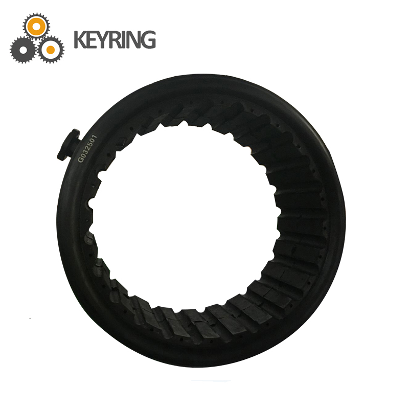 Drilling rig clutch air clutch with brake pad