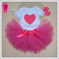 baby clothing set baby girl romper headband tutu skirt 3pcs sports suits newborn kids outfits Princess Tutu Dress