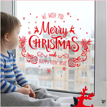 Happy New Year Christmas Decoration Window Wall stickers
