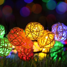 Solar String Lights, Outdoor Globe Lights by sinohamm 20ft 30 LED 8 Modes Fairy Orb Crystal Ball Lighting for Christmas Trees,
