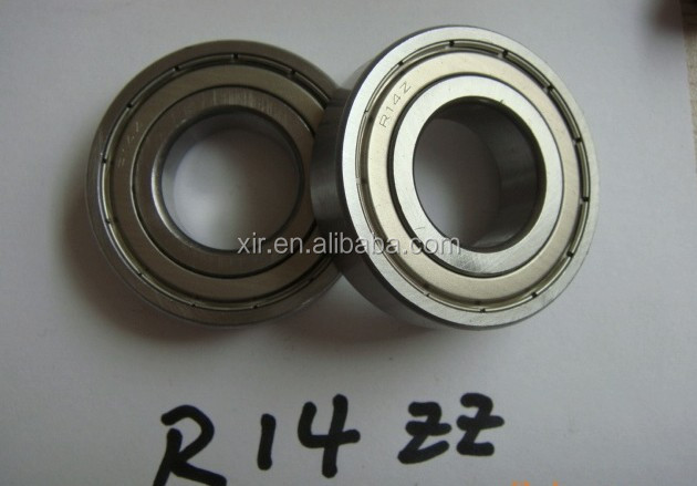 OEM deep groove ball bearingR14ZZ chrome steel bearing ABEC-1