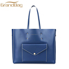 fashion smooth leather ladies travel handbag women beach bag shopping tote bags