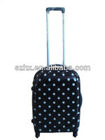 PC 3-piece dotted black hardside trolley bag and luggage