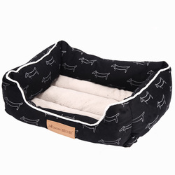 Amazon Hot Selling Wholesale Small Soft Washable Luxury Dog Bed for Pet