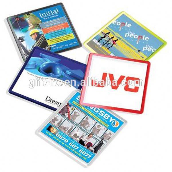 Cheap promotional promotional plastic photo coasters