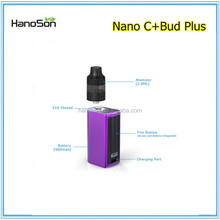 large capacity Bud Plus cbd atomizer 2.0ml empty electric cigarette cartridges .8ml glass filter tips accept custom logo