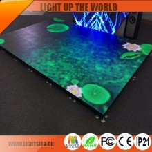 P6 Outdoor Waterproof Advertising RGB Programmable Moving Slim Dance Floor LED Disco Panel