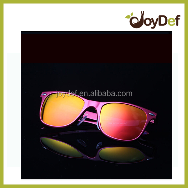 The unique design frosted gradual change color stylish sunglasses with magic mirror lens