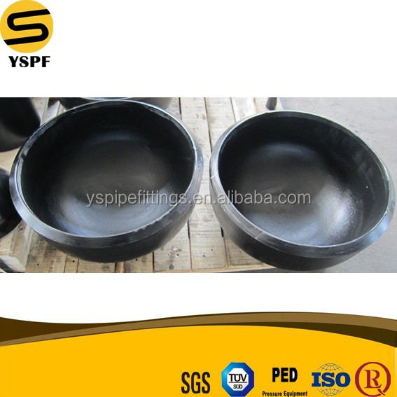 High precision pressure Carbon Steel Black Paint Hot Dipped Galvanized BW dimensions 4 Inch pipe end cap Pipe Fittings