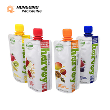 Eco Friendly Food Packaging Plastic Stand Up Pouches Spout For Fruit Puree