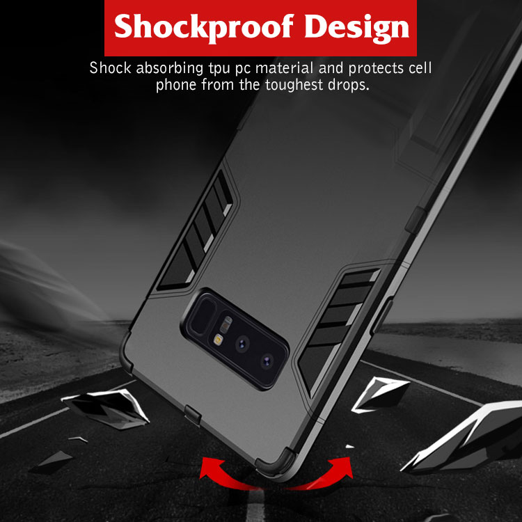 For samsung galaxy s8 case mobile phone armor kickstand, armor phone case for s8 plus kickstand
