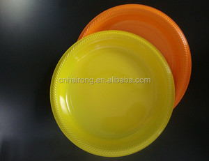 PS round wholesale elegant disposable plastic plates for party