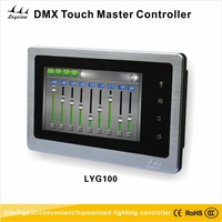 DMX lighting control system with touch panel