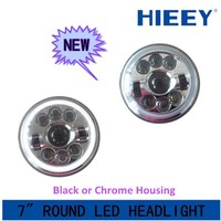 "New Products! DOT Approval 7 Inch round Led Lighting 7"" 29W Headlight with DRL for Jeep with low high beam led headlight"