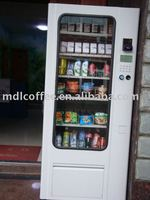 Snack vending machines (Bags of bread, biscuit, milk, cigarette, toilet paper, sandwich, chips, etc )