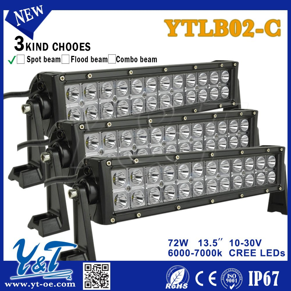 Made in Y&T 2015 13.5inch 72W High PowerLed Driving Lights bar with mixed beam pattern for Truck SUV ATV