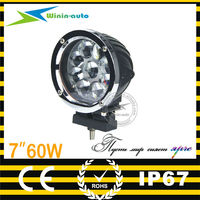 Multivoltage 7inch 60w LED driving light led work light WI7601