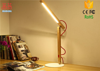 Modern simple led wooden table lamp novelty creative design warm white light