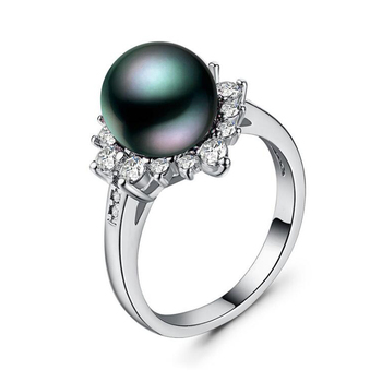 Wholesale creative pearl ring designs for  women fashion pearl ring jewelry