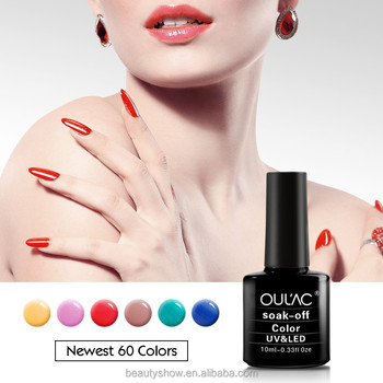 2015 OUL'AC hot sale newest popular colors gel nail polish, private label, led uv gel