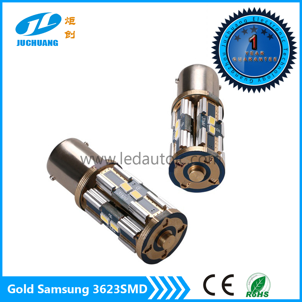 2016 14K gold T20 8*3623smd Canbus LED light car 1156 1157 3156 3157 7440 7443 brake light/turn light/tail light