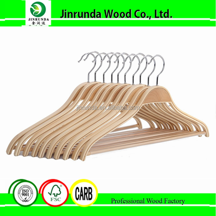 Light wooden clothes hangers designer hanger rack hanger