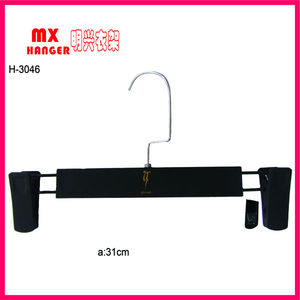clear plastic pant hanger,pant hanger,hangers for pant