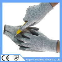 superior performance high modulus Anti-cut high impact resistant TPR glove level 5 working gloves for glass handing