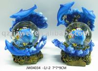 Polyresin dolphin Water globe