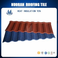 Heat Insulation Building Material Antique Color Stone Coated Zinc Metal Roofing Tile