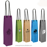 promotional recycled nonwoven tote wine bottle bag