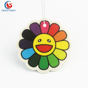 hot sale smile face car air freshener with customer logo