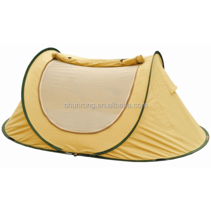 poly-cotton waterproof pop up tent outdoor canvas camping tent