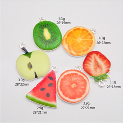 DIY jewelry Making zinc alloy pendants Custom Enamel mix fruit Charms pendants