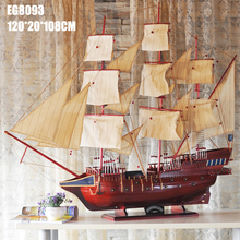 130cm wooden sailing boat handmade ship for sale