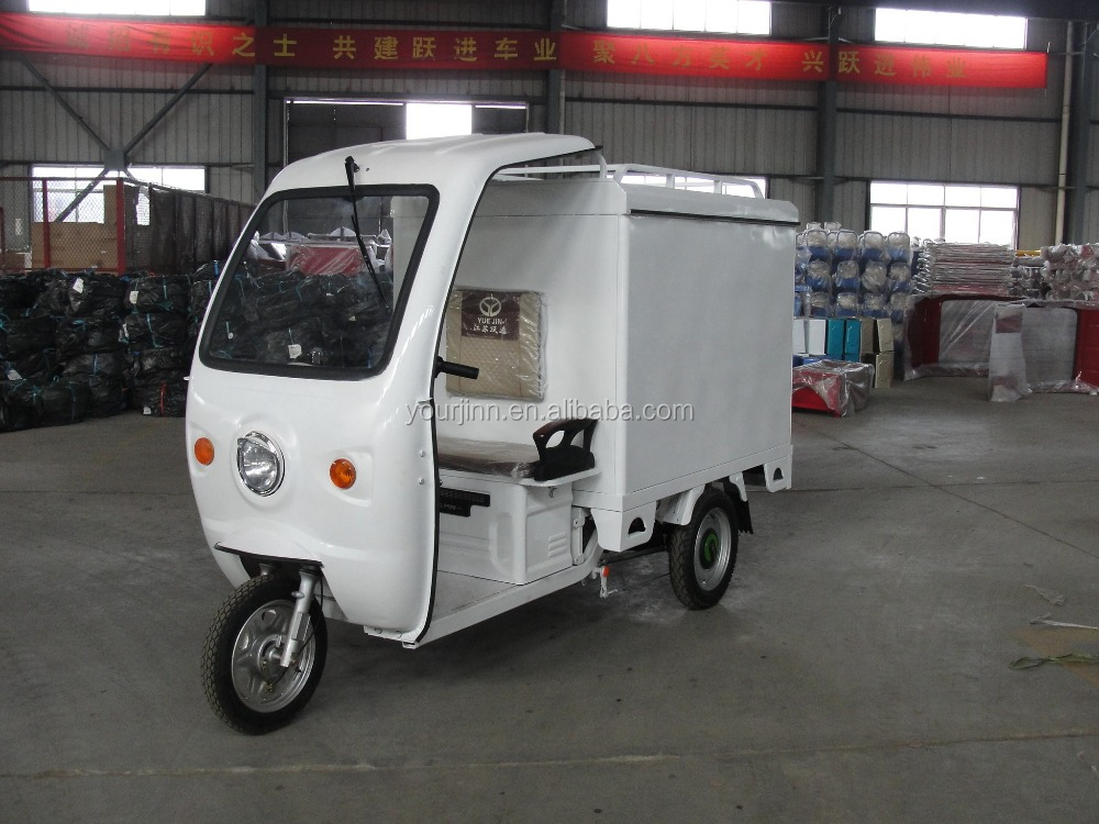 electric tricycle with closed cargo box