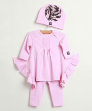Fashion Baby Girl Clothing Set Kids Suit Include Rose Calatheas Tunic And Leggings Children Clothes G-NP-CS905-292