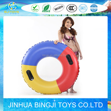 wholesale in cheap price promotional inflatable swimming ring for adult and children with handle