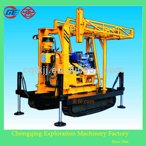 2014 newly wholesale price GX-1TDL crawler mounted portable water well drilling rigs for sale