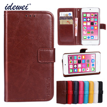 Luxury Flip PU Leather Wallet Mobile phone Cover Case For ipod touch 6 with Card Holder