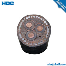 underground aluminum low voltage 4 core electrical power cable yjv22 wire armored cable