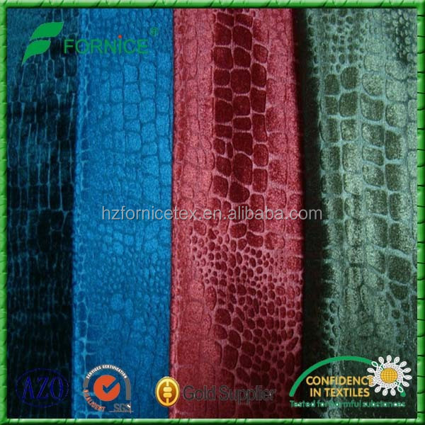 100%polyster yarn dyed warp knitted embossing sofa fabric