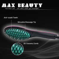 2016 Hot Wholesale Tourmaline Ceramic Fast Hair Straightening Brush