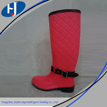 Environmentally-friendly materials fashion rain boots with handle