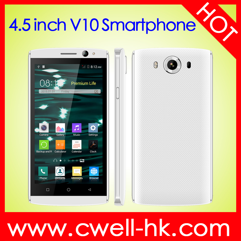 China android smartphone Alps V10 MTK6572 Dual Core Android 4.4 WIFI GPS Cost-effective best 4.5 inch smart phone