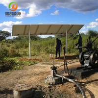 Solar water pump with PLC system controlling for 15KW electric submersible / surface water pump